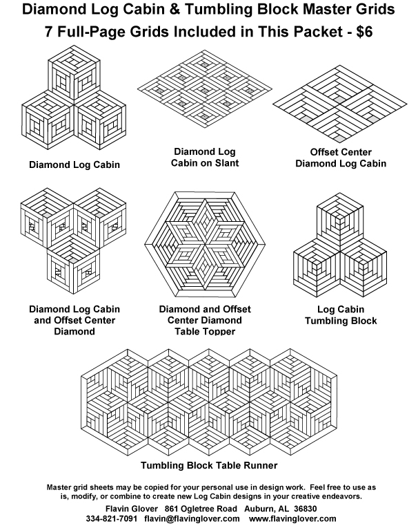 Diamond Star Log Cabin Patterns 65